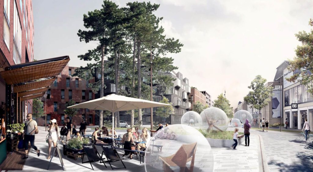 Visualisering af kvartersplads i Karrékvarteret