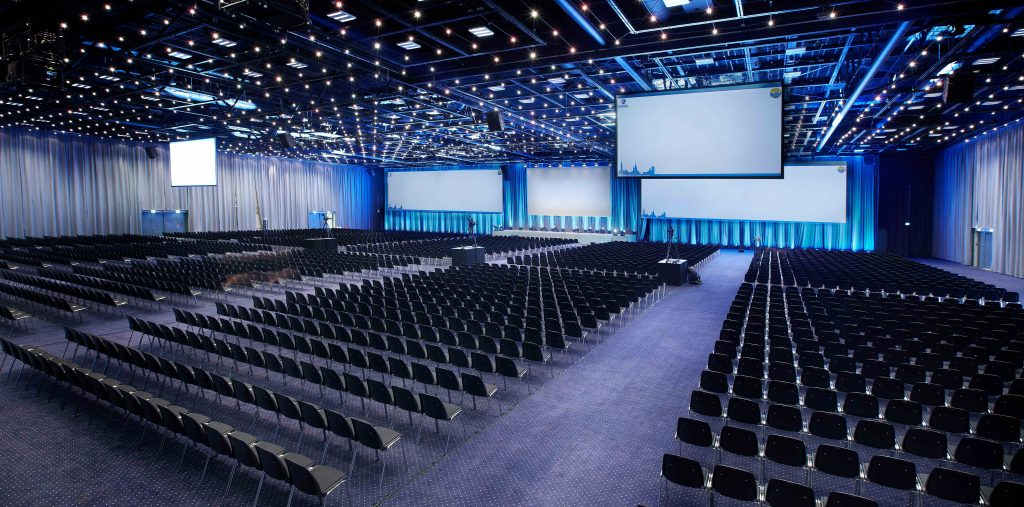Kongressal med plads til 4.000 personer Comwell Conference Center.