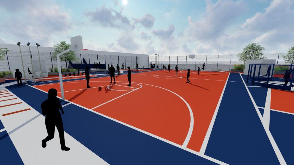 Aktivitetstag basket fodbold træning Bellakvarter Ørestad